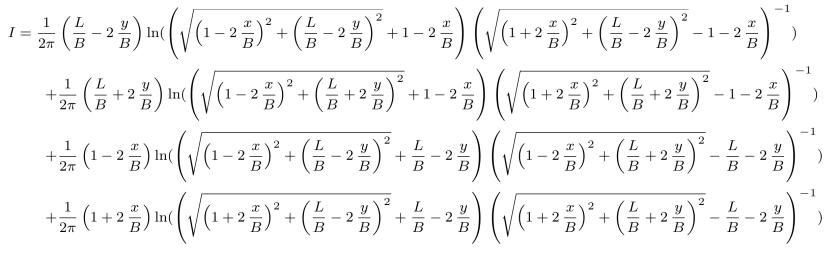 Perloff Elastic Rectangular Foundation Deflection